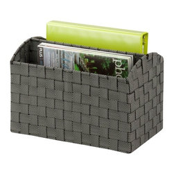 Woven Document Carrying Tote, Salt&Pepper - Honey-Can-Do OFC-03689 Document Carry Tote, White/Black. Keep track of important documents with this carrying tote from Honey-Can-Do. The cut out handle makes the tote perfect for carrying papers or magazines from one location to another. The strong weave of the double woven straps ensures your documents will stay in one place. Also perfect for organizing a desktop or remotes and other entertainment center essentials. Coordinates with other pieces in Honey-Can-Do's collection of double woven office products.