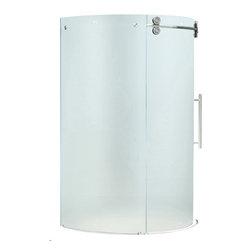 """VIGO Industries - VIGO 40x40 Frameless Round 5/16"""" Shower Enclosure - Make your bathroom an oasis with a VIGO frameless round shower enclosure."""