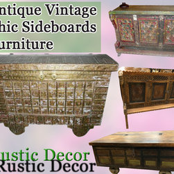 Antique Rustic Furniture Sideboard Buffets ON SALE !!!! - Mogulinterior carries beautifully crafted antique furniture hand made from woods.Antique sideboard are beautifully rustic and hand carved with metallic accents giving the pieces an exotic bohemian charm and positive energy.