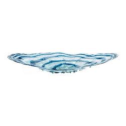 "Joshua Marshal - Blue / Clear 39.75"" Decorative Plate - Blue / Clear 39.75"" Decorative Plate"