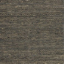 Uttermost - Uttermost Taryn Transitional Rug X-5-04017 - Rescued sueded black leather and natural jute hand woven in a subtle chevron pattern. This rug is not recommended for high traffic areas.