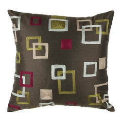 Rizzy Home - Brown and Multi Decorative Accent Pillows (Set of 2) - T02755 - Set of 2 Pillows.