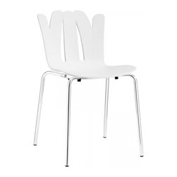 Modway Imports - Modway EEI-1496-WHI Flare Dining Side Chair In White - Modway EEI-1496-WHI Flare Dining Side Chair In White