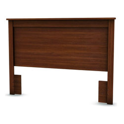 South Shore - Headboard for Full & Queen in Cherry Finish - Manufactured from eco-friendly, EPP-compliant laminated particle boardcarrying the Forest Stewardship Council (FSC) certification. Contemporary design. Assembly Required. Above legs: 65 in. L x 28.25 H. 65 in. L x 3 in. W x 46 in. H
