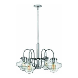 Hinkley Lighting - Hinkley Lighting 3041 Congress 4 Light 1 Tier Chandelier - Four Light Single Tier Chandelier with Clear Shade from the Congress CollectionFeatures: