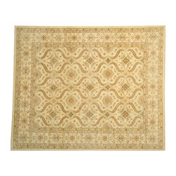 1800-Get-A-Rug - Ziegler Mahal Hand Knotted Rug Milk Wash Repetitive Design Sh13326 - About Oushak and Ziegler Mahal