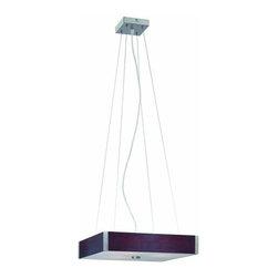 Lite Source - Lite Source LS-19537 3 Light Ceiling Lamp Polished Steel / Dark Walnut Wood - 3 Light Ceiling Lamp Polished Steel Dark Walnut Wood from the Kateb Series