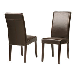 Four Hands - James Dining Chair - Do your dining room right with sleek, comfortable seating that makes every meal a pleasure. These oak chairs, covered in durable bicast leather, have clean lines and soft curves that add up to total sophistication.