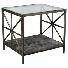Contemporary Furniture Hammary Crossnore Rectangular End Table Multicolor - T2046520-00