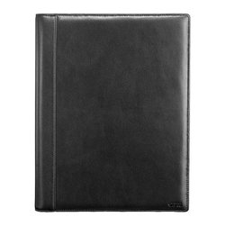 Tumi 'Delta' Letterpad - Full-grain nappa leather comprises the cover of a sophisticated letter pad crafted with a durable ballistic-nylon spine and detailed with red stitching. Color(s): black. Brand: Tumi. Style Name: Tumi 'Delta' Letterpad. Style Number: 506126.