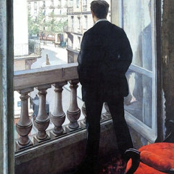 "Art MegaMart - Gustave Caillebotte A Young Man at His Window - 18"" x 27"" Premium Canvas Print - 18"" x 27"" Gustave Caillebotte A Young Man at His Window premium canvas print reproduced to meet museum quality standards. Our museum quality canvas prints are produced using high-precision print technology for a more accurate reproduction printed on high quality canvas with fade-resistant, archival inks. Our progressive business model allows us to offer works of art to you at the best wholesale pricing, significantly less than art gallery prices, affordable to all. We present a comprehensive collection of exceptional canvas art reproductions by Gustave Caillebotte."