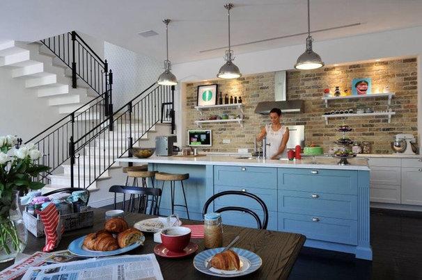Transitional Kitchen by Aline Shalem