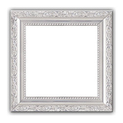 Metallic Silver Solid Wood Photo, Picture Frame, Metallic Silver, 11x17 - Solid wood photo frame designed for hanging.