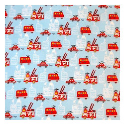 "SheetWorld - SheetWorld Fitted Crib / Toddler Sheet - Fire Trucks Blue - Made in USA - This 100% cotton ""woven"" crib / toddler sheet features the cutest fire trucks print on a blue background. Our sheets are made of the highest quality fabric that's measured at a 280 tc. That means these sheets are soft and durable. Sheets are made with deep pockets and are elasticized around the entire edge which prevents it from slipping off the mattress, thereby keeping your baby safe. These sheets are so durable that they will last all through your baby's growing years. We're called SheetWorld because we produce the highest grade sheets on the market today. Size: 28 x 52."