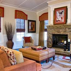 Contemporary Family Room Cozy Family Room