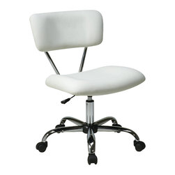 Avenue Six - Avenue Six Vista Task Office Chair in White - Avenue Six - Office Chairs - ST181V11 -