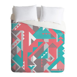 DENY Designs - Sam Osborne Folded Angles Duvet Cover - Turn your basic, boring down comforter into the super stylish focal point of your bedroom. Our Luxe Duvet is made from a heavy-weight luxurious woven polyester with a 50% cotton/50% polyester cream bottom. It also includes a hidden zipper with interior corner ties to secure your comforter. it's comfy, fade-resistant, and custom printed for each and every customer.