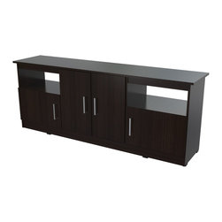 Inval America - Contemporary 60 Inches Flat-Screen TV Stand - This stylish  and modern TV stand will add personality to any room.