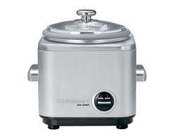 Cuisinart - Cuisinart 4-Cup Stainless Steel Rice Cooker - No more ruined rice! This sturdy unit cooks four cups to fluffy perfection, then switches to the keep-warm setting so that it stay that way. There's even a steam tray to prep other foods while your rice simmers away.