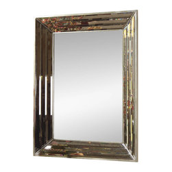 Bassett Mirror - Clear Beveled Wall Mirror - Extremely Beveled Frame provides great depth. Measures: 30 in. W x 40 in. H.