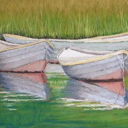 Roweboat Art Inc - Floating Skiffs, Fine Art Reproduction, 20X16 - Original art reproduction