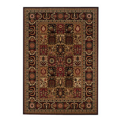 """Couristan - Royal Kashimar Antique Nain Rug 8199/2599 - 4'6"""" x 6'6"""" - With their soft touches of silk-like yarns these area rugs will add a touch of luxury to your room. You have several fabric options with this collection because of the amount of colors in these area rugs. Don't be afraid to mix large floral or pattern designs with this group. Because of the fine details in the patterns it makes the mixing easier."""
