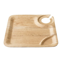 "Bamboo Studio - Bamboo Studio 9in Square Bamboo Wine Plate 8/pk - Your wine won't spill with this clever tray, which holds the stem just so. Even better, there's ample room for your complementary goodies. Made from bamboo, this  9"" square plate is an elegant and durable yet casual choice for your vino rituals."