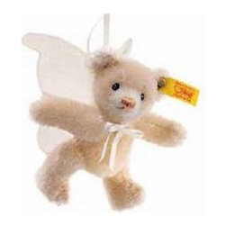 Steiff - Steiff Angel Teddy Bear Ornament - Steiff Mini Teddy Bear Little Angel is made of the finest beige mohair with wings of white silken organza. Jointed and surface washable.  This unique Angel Teddy Bear is Handmade in Germany.