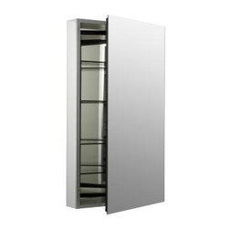 KOHLER - KOHLER K-2913-PG-SAA Catalan Mirrored Cabinet with 107 Degree Hinge - KOHLER K-2913-PG-SAA Catalan Mirrored Cabinet with 107 Degree Hinge in Satin Anodized Aluminum