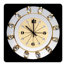 Clock - The wall clocks have always been withing the main accessories which are used to decorate the walls and the overall decor of the property. With our 24k golden plated wall clock you can enjoy the brightness and luxurity, the uniqueness of your decor. NEW in MIAMI and in the whole FLORIDA. Be the first family to have our beautiful wall clock