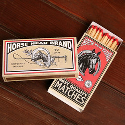 Horse Head Brand Matches - The ideal complimentary gift to give with one of our luxuriously scented candles, our matches come in delightful designs to suit all tastes like these Horse Head Brand Matches for those who love one of natures most majestic creatures. Set these matches in plain site for all to admire.
