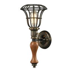 Elk Lighting - EL-14231/1 Spun Wood 1-Light Sconce in Vintage Rust - Spun wood (existing) collection 1 light sconce in vintage rust