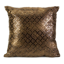Imax - Imax Zuma Square Pillow Multicolor - 70606 - Shop for Pillows from Hayneedle.com! Fall for the shimmery bronze metallic Imax Zuma Square Pillow. This dazzling beauty has a polyester cover with a geometric pattern. Its plump polyester fill holds the shape beautifully.About IMAXWhat began as a small company importing copper flower containers in 1984 by Al and Faye Bulak has developed into one of the top U.S. import companies serving the At Home market today. IMAX now provides home and garden accessories imported from twelve countries around the world housed in a 500 000 square foot distribution center. Additional sourcing product development and showroom facilities in the USA India and China make IMAX a true global source. They're dedicated to providing products designed to meet your needs. This is achieved through a design and product development team that pushes creativity taste and fashion trends - layering styles periods textures and regions of the world - to create a visually delightful and meaningful environment. At IMAX they believe style integrity and great design can make living easier.