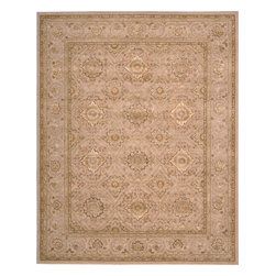 "Nourison - Nourison Nourison 3000 3108 (Beige) 5'6"" x 8'6"" Rug - Nourison's ultimate 100% New Zealand wool handcrafted carpets feature exquisitely hand carved elegant designs, intricately woven with generous portions of pure silk. The Nourison 3000 sets a new standard in superb construction and beauty that rivals the world's finest heirloom rugs, and will proudly become the centerpiece of any room in the home."