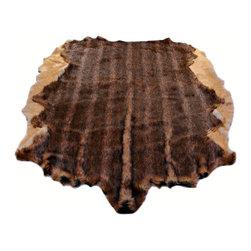 Fur Accents - Fur Accents Pelt Rug, Brindle Faux Fur Hide, Floor Couture, 4x5 - A Truly Original Animal Theme Accent Rug. Rich and Silky Soft Faux Animal Pelt Carpet.