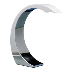 LUMISOURCE - Lumisource Element Touch Lamp, Chrome - Light up any work space in a flash by simply touching the chrome surface of this ultra-modern lamp. Simple to use activation, a unique crescent shape and an enhanced super-bright 3W LED light, make this desk lamp an amazing addition to any home or office.