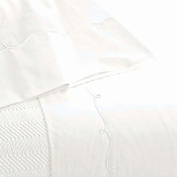 Pine Cone Hill - embroidered hem sheet set (white) - This item comes in��white.��This item size is��various sizes.