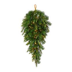 """Vickerman - Cashmere Teardrop LED 50WmWht (36"""") - 36"""" Cashmere Pine Teardrop   120 PE/PVC Tips,  50 LED  Italian Lights"""