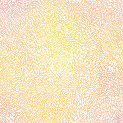 """Morning Sun - Large Abstract Archival Print, 11""""X11"""" - The Morning Sun spreading its light. White tear shaped light radiating outward in currents and a yellow to orange to pink gradient transitioning in the background. This print is sure to shine despite rainy days. This is an original, archival print w/ border on 100% acid free, cotton rag paper and printed with Epson K3 archival inks. These prints will last 100 years under typical conditions. Frame not included."""