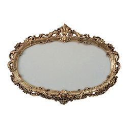 Fancydecor - Oval Decorative Frame for Mirrors - This would look amazing as an empty frame on the wall as part of your decor, you can add a large art piece to it, or a mirror.