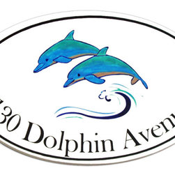 Dolphins Address Plaques - To find out more and how to order click here: http://www.classyplaques.com/dolphins-address-plaques/