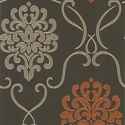 Dl Accent Damask Wallpaper, Bolt