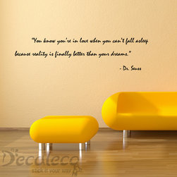 Love and Dreams Vinyl wall quote from Dr. Seuss - Love and Dreams Vinyl wall quote from Dr. Seuss | 24 colors available