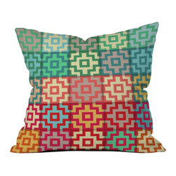 Different Shades Outdoor Pillow - Transform your outdoor space with a colorful throw pillow. A little bit funky, a little bit artsy, this double-sided, custom made pillow is waterproof as well as mildew-proof. Made in the USA.