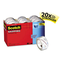 "3M - 3850 Heavy-Duty Packaging Tape Cabinet Pack, 1.88"" X 54.6Yds, 18/Pack - Cabinet pack of clear-to-the-core premium packaging tape in a recyclable carton. Scotch Brand's strongest clear-to-core packaging tape. Split-, burst- and moisture-resistant for long-lasting performance. Great choice for your most critical packaging tape needs. Recyclable carton made from 100% recycled paper (minimum 35% post-consumer). Carton stores the rolls neatly on shelf. Top of box can be removed for easy access and replaced to keep tape clean. Stock up and save! Tape Type: Hot Melt Packaging; Adhesive Material: Solvent Free; Tape Special Feature: Value Pack."