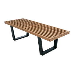 Nuevo Living - Tao 48 inch Short Nelson Bench by Nuevo - HGEM126 - The Tao 48 inch Short Nelson Bench by Nuevo features hardwood construction from American Ash.  This is a high end reproduction of the timeless classic Nelson bench.