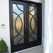 Contemporary Front Doors by D'Hierro Hand Forged Iron