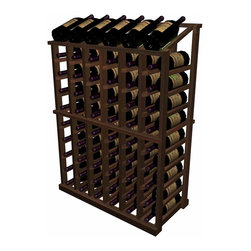 Wine Cellar Innovations - Half Height Individual Wine Rack with Display Designer Series in Rustic Pine, Da - The Individual Half Height with Display wooden wine rack is a very popular size. It is the wine rack most popularly requested to fit underneath an archway, yet this rack has a display row on top for those wishing to forego a table top option, and wanting to display their more valuable wines in an attractive manner. Used alone or in a wine rack kit cellar, the Individual Half Height with Display wooden wine rack is 6 columns wide x 10 rows high and stores 66 bottles including the 6 displayed on top. Product requires assembly.