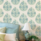 Rani Paisley Damask Allover Stencil - Rani Paisley Damask Allover Stencil from Royal Design Studio for walls, furniture, ceiling, floors, and fabric.