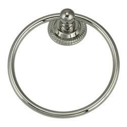 Jado Wynd 816 - Jado Wynd 816 Platinum NIckel Towel Ring 016150.150 - Wynd 816 Platinum Nickel Towel Ring